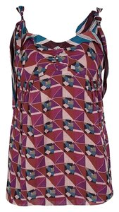 Marc Jacobs Sleeveless Detail Cotton Top Multicolor