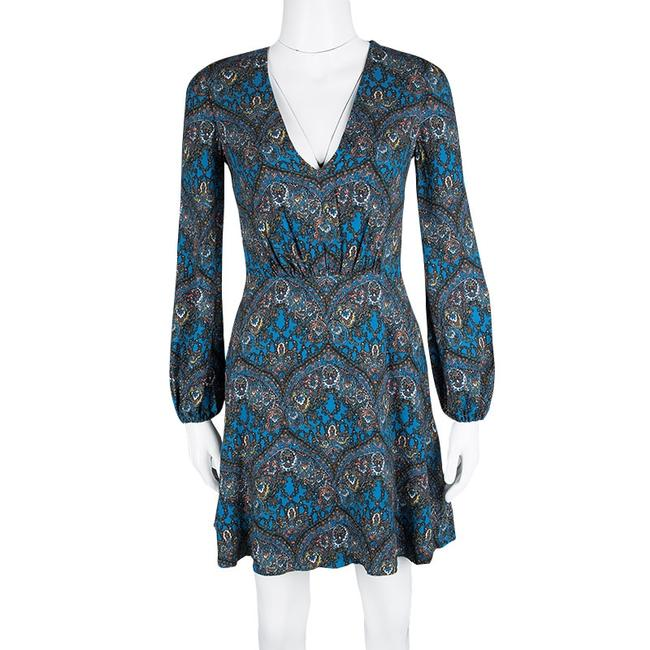 Alice + Olivia short dress Blue Viscose Polyester V-neck on Tradesy Image 1