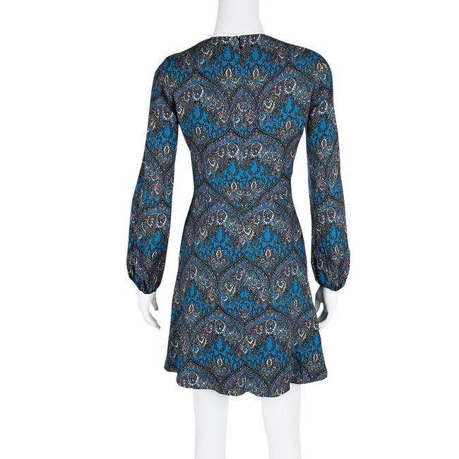 Alice + Olivia short dress Blue Viscose Polyester V-neck on Tradesy Image 2