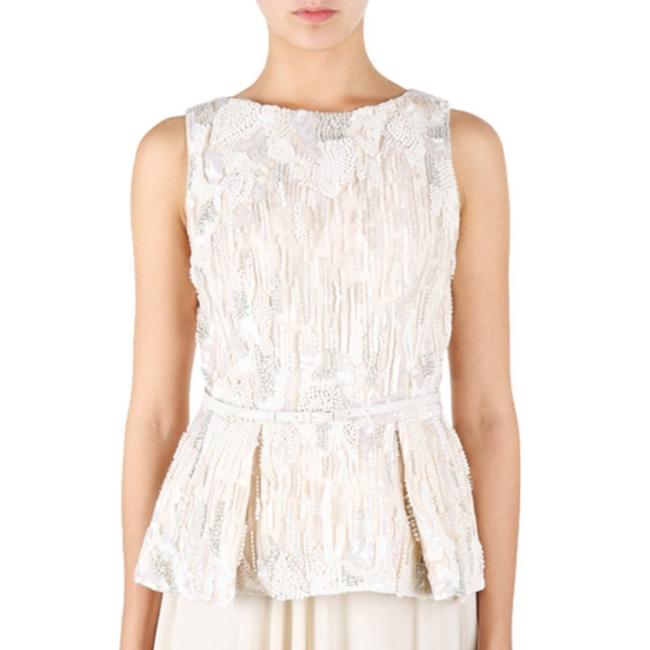 Elie Saab Embroidered Sleeveless Top White Image 1