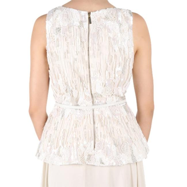 Elie Saab Embroidered Sleeveless Top White Image 2