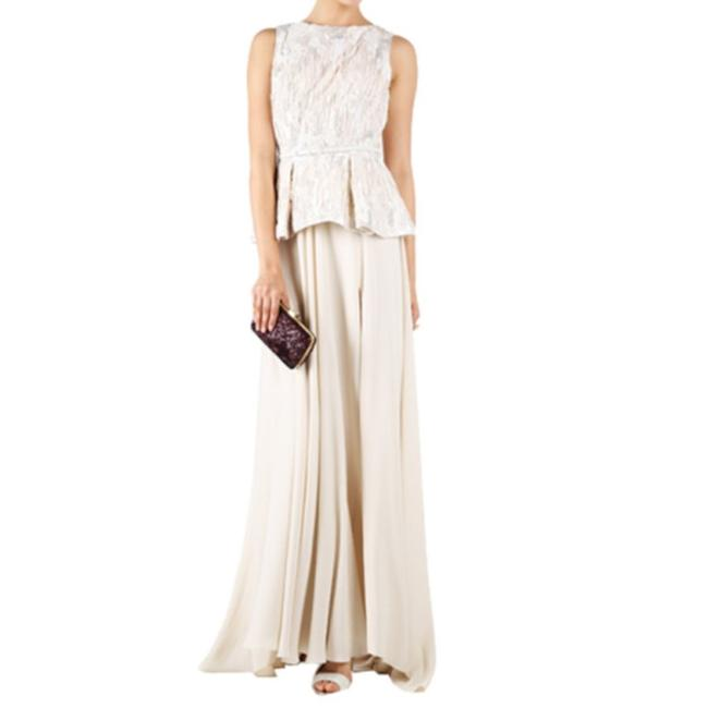 Elie Saab Embroidered Sleeveless Top White Image 3