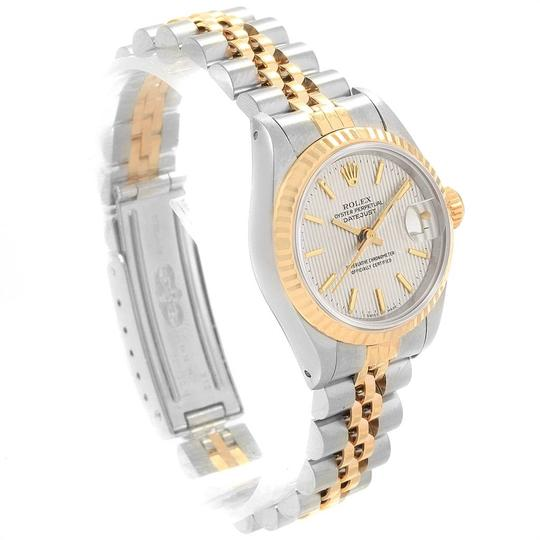 Rolex Rolex Datejust Steel Yellow Gold Silver Tapestry Dial Ladies Watch 691 Image 2