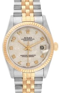 Rolex Rolex Datejust Midsize 31mm Steel Yellow Gold Dial Ladies Watch 68273