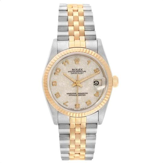 Rolex Rolex Datejust Midsize 31mm Steel Yellow Gold Dial Ladies Watch 68273 Image 1