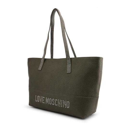 Love Moschino Tote in Green Image 1