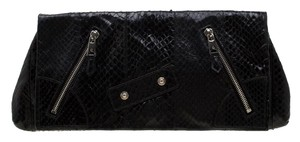 Alexander McQueen Leather Fabric Black Clutch