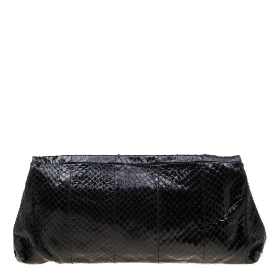 Alexander McQueen Leather Fabric Black Clutch Image 1