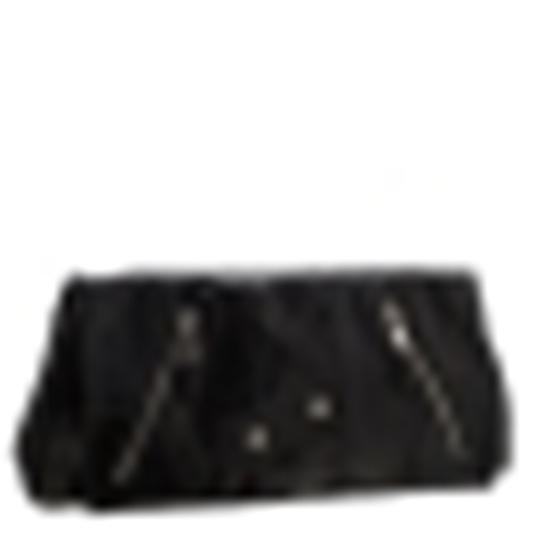 Alexander McQueen Leather Fabric Black Clutch Image 3