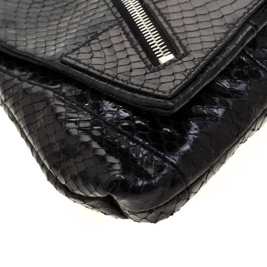 Alexander McQueen Leather Fabric Black Clutch Image 4