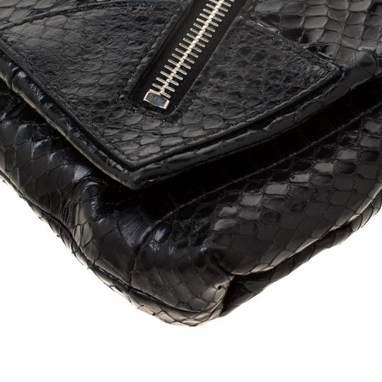 Alexander McQueen Leather Fabric Black Clutch Image 5