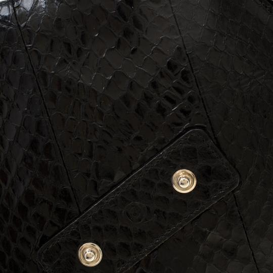 Alexander McQueen Leather Fabric Black Clutch Image 7