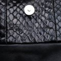 Alexander McQueen Leather Fabric Black Clutch Image 8