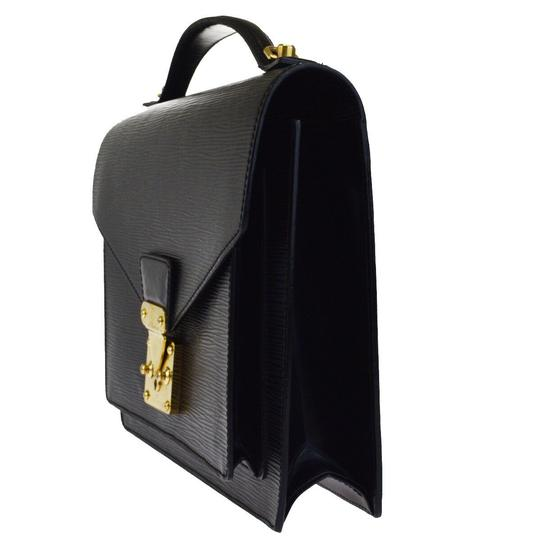 Louis Vuitton Made In France Black Travel Bag Image 1