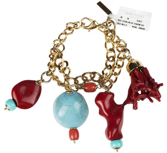 Preload https://img-static.tradesy.com/item/25782366/moschino-golden-faux-turquoise-and-red-coral-charm-bracelet-0-1-540-540.jpg
