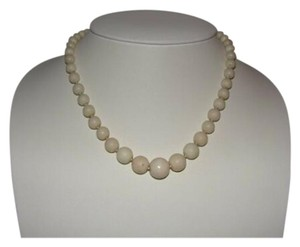 800 silver Graduated Angelskin Coral Necklace 800 Silver