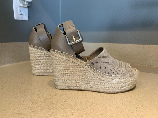 Marc Fisher Leather Suede Tan Wedges Image 3