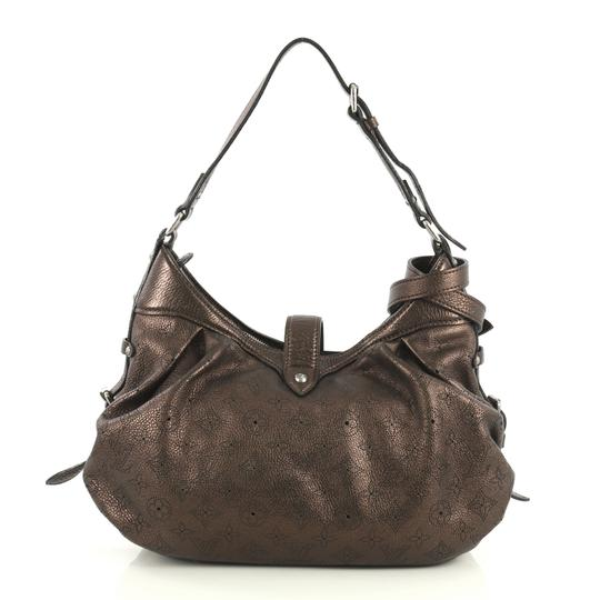 Louis Vuitton Crossbody Leather Satchel in brown Image 2