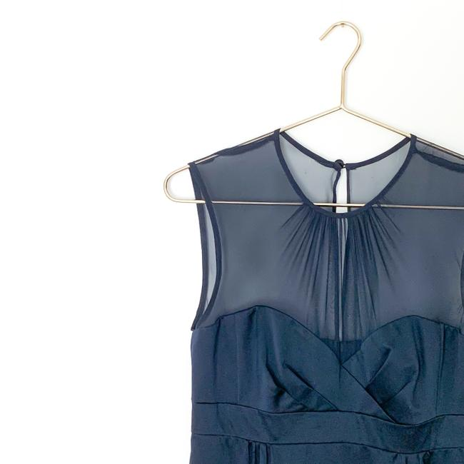 Nanette Lepore Silk Sweetheart Sheer Date Night Night Out Top navy Image 3