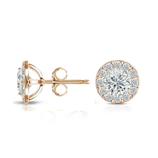 Harry Chad Rose Gold 14K Sparkling 3.50 Carats Diamonds Lady Studs Earrings Image 2