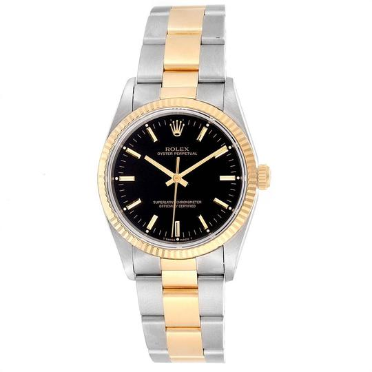 Rolex Rolex Oyster Perpetual Steel Yellow Gold Black Dial Mens Watch 14233 Image 1