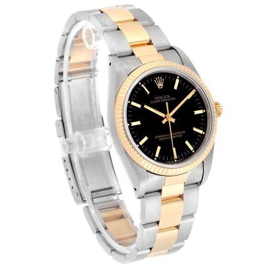 Rolex Rolex Oyster Perpetual Steel Yellow Gold Black Dial Mens Watch 14233 Image 2