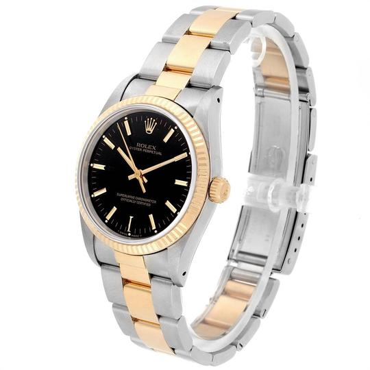 Rolex Rolex Oyster Perpetual Steel Yellow Gold Black Dial Mens Watch 14233 Image 3