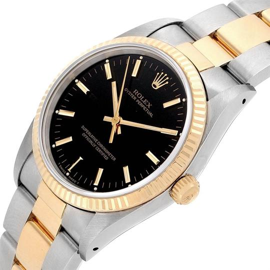 Rolex Rolex Oyster Perpetual Steel Yellow Gold Black Dial Mens Watch 14233 Image 7