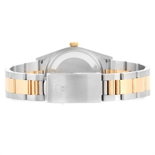 Rolex Rolex Oyster Perpetual Steel Yellow Gold Black Dial Mens Watch 14233 Image 8