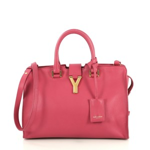 Saint Laurent Classic Cabas Satchel in pink