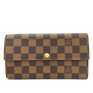 Louis Vuitton Portefeuille Sarah Damier Ebene Long Wallet