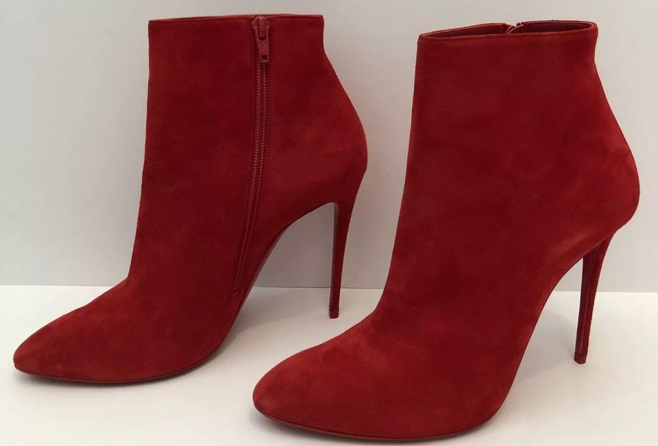 7f04a4deda8 Christian Louboutin Red Eloise Almond Toe Boots/Booties Size EU 38.5  (Approx. US 8.5) Narrow (Aa, N) 53% off retail