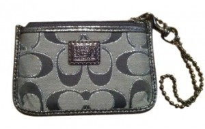 Coach Wristlet in Gray/Silver
