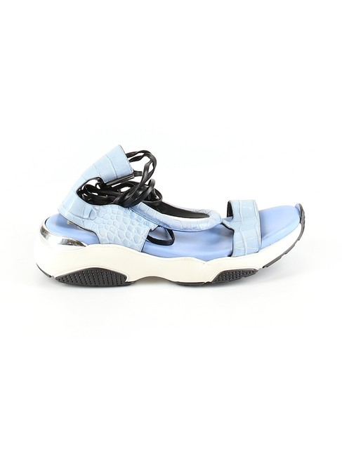 Item - Blue Got Am P All Celeste Leather Multi Strap Sandals Size US 9 Regular (M, B)