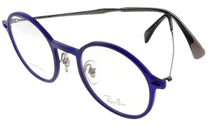 Ray-Ban RX7087-5636-46 Round Womens Violet Frame Clear lens Genuine Eyeglasses