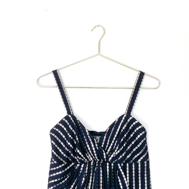 Anthropologie Metallic Sweetheart Sparkle Top blue, silver Image 2