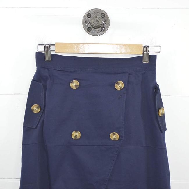 C/meo Collective #nautical #summer #tortoise Shell #buttons #navy Skirt BLUE / BROWN Image 1