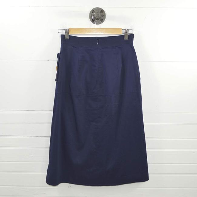 C/meo Collective #nautical #summer #tortoise Shell #buttons #navy Skirt BLUE / BROWN Image 2