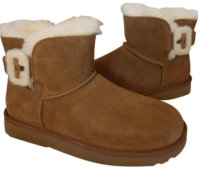 Item - Chestnut Fluff Buckle Mini Suede Shearling Boots/Booties Size US 11 Regular (M, B)