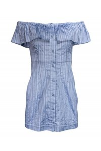 Intermix short dress Blue Day Striped on Tradesy