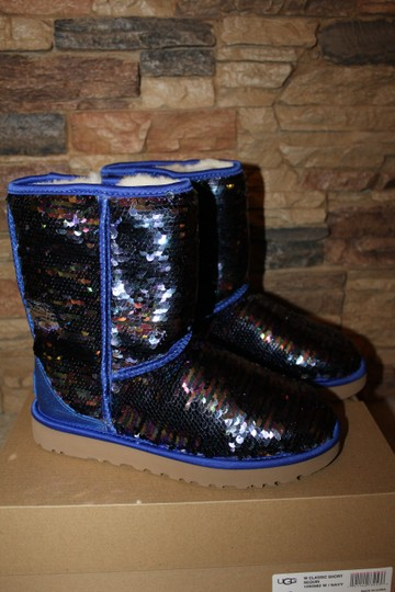 be0088bfe15 UGG Australia Blue Sparkles Sequin Classic Boots/Booties Size US 9 Regular  (M, B) 12% off retail