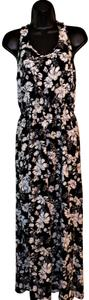 Black & White Maxi Dress by Pink Rose Summer Maxi Flowered