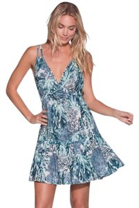 Maaji short dress Blue Adjustable Straps Multiple Straps Stretch Under Bust Cool + Swingy Coral Reef Print on Tradesy