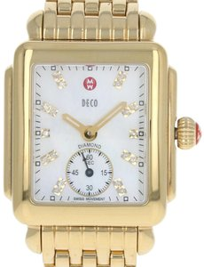 Michele Michele Deco Men's Watch - Stainless Gold Plated Quartz 2Yr Wnty E2468