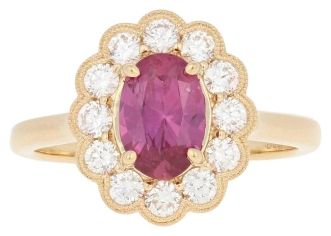 Wilson Brothers Jewelry Yellow New 1.68ctw Oval Cut Ruby & Diamond - 18k Gold Floral E4931 Ring Wilson Brothers Jewelry Yellow New 1.68ctw Oval Cut Ruby & Diamond - 18k Gold Floral E4931 Ring Image 1