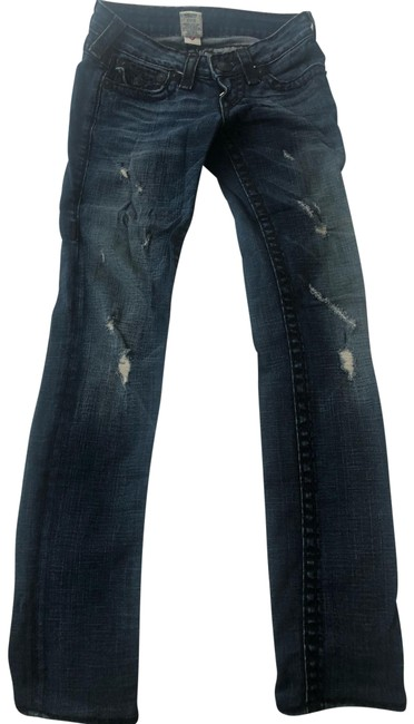 Item - Blue and Black Distressed Dark Skinny Jeans Size 00 (XXS, 24)