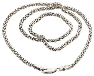 Samuel B. Oxidized 24 inches 3mm sterling silver popcorn chain
