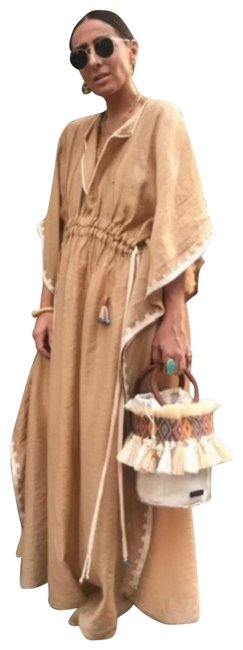 Item - Peach Limited Edition Studio Embroidered Tunic (6895) Long Casual Maxi Dress Size 4 (S)