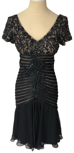 Preload https://img-static.tradesy.com/item/25784750/jovani-black-and-nude-embellished-fitted-evening-cocktail-formal-dress-size-2-xs-0-1-650-650.jpg