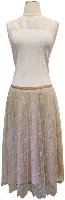 Item - Nude and Green Lace Skirt Size 6 (S, 28)